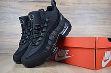 """Зимние кроссовки на меху Nike Air Max 95 """"Черные"""", фото 3"""