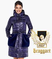 Воздуховик Braggart Angel's Fluff 31845 | Женская длинная куртка на осень-весну фиолетовая