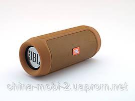 JBL Charge 2+ E2+ 10W копия, блютуз колонка c FM и MP3, бронзовая, фото 2