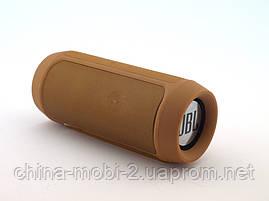 JBL Charge 2+ E2+ 10W копия, блютуз колонка c FM и MP3, бронзовая, фото 3