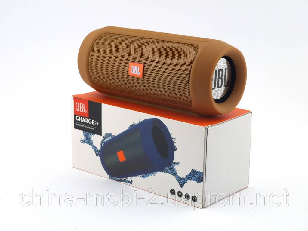 JBL Charge 2+ E2+ 10W копия, блютуз колонка c FM и MP3, бронзовая