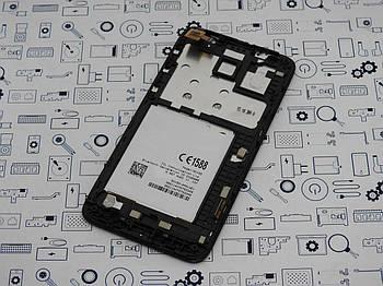 Дисплей Alcatel 5015D POP 3 модуль черный Сервисный оригинал с разборки