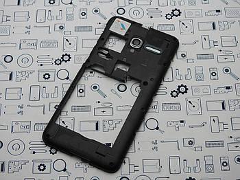 Б.У. Корпус Alcatel 5015D POP 3 средний со стеклом камеры черный