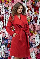 Теплое осеннее пальто из буклированной ткани 42,44,46