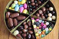 Шоколадное драже орех, кофе,апельсин,изюм , нут Bim birlesik Hazine, 230 гр., фото 1