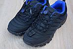 Мужские зимние кроссовки Merrell Vibram (черно-синие) - термо (без меха), фото 3