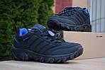 Мужские зимние кроссовки Merrell Vibram (черно-синие) - термо (без меха), фото 4