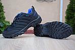 Мужские зимние кроссовки Merrell Vibram (черно-синие) - термо (без меха), фото 7
