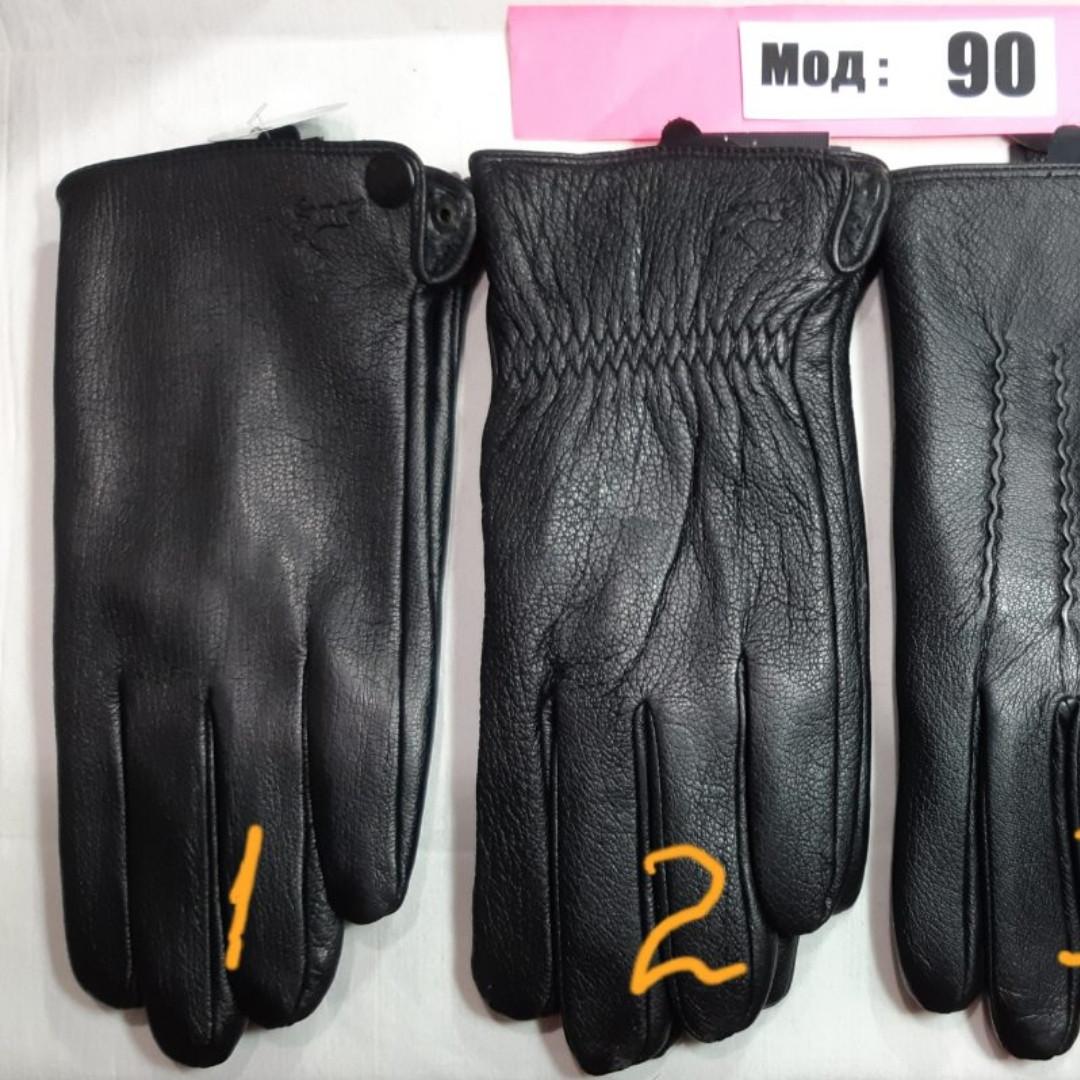 Кожа мужские перчатки осень смартфон