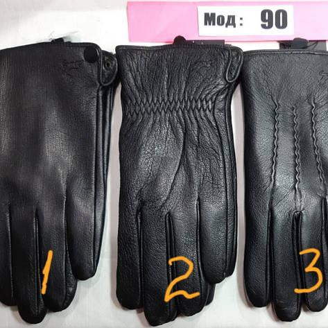 Кожа мужские перчатки осень смартфон, фото 2