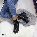 Женские демисезонные ботинки черного цвета, из эко кожи 40 ПОСЛЕДНИЙ РАЗМЕР, фото 3