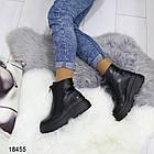 Женские демисезонные ботинки черного цвета, из эко кожи 40 ПОСЛЕДНИЙ РАЗМЕР, фото 6