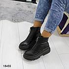 Женские демисезонные ботинки черного цвета, из эко кожи 40 ПОСЛЕДНИЙ РАЗМЕР, фото 4