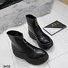 Женские демисезонные ботинки черного цвета, из эко кожи 40 ПОСЛЕДНИЙ РАЗМЕР, фото 5
