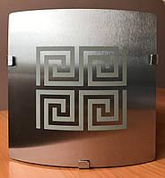 Вентилятор вытяжной бытовой Ø120 мм дизайн VENUCCI SILVER BRUSHED TOUCH Ø120 мм
