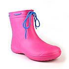 Розовые сапоги из пены ЭВА на слякоть и дождь р. 37, 39, 40, 41 Резиновые сапоги. Аналог Crocs, фото 7