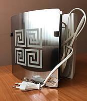 Вентилятор вытяжной с таймером бытовой Ø120 мм дизайн VENUCCI SILVER STEEL TIMER Ø120 мм