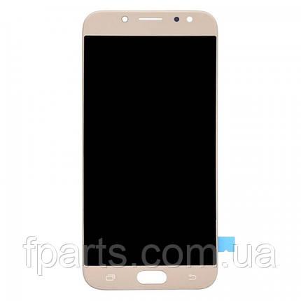 Дисплей Samsung J730 Galaxy J7 2017 з тачскріном, Gold (TFT), фото 2