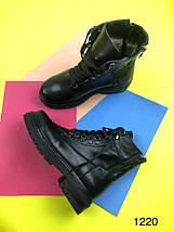 Стильные женские ботинки чёрного цвета на шнуровке 36-40 р, фото 3