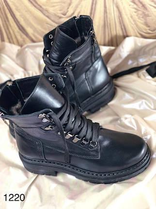 Стильные женские ботинки чёрного цвета на шнуровке 36-40 р, фото 2