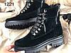 Стильные женские ботинки чёрного цвета на шнуровке 36-40 р, фото 6