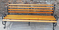 Скамья кованая садовая Ольга 2м  ЯСЕНЬ с укрепляющей подвеской, фото 1