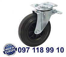 Колёса поворотны с крепежной панелью и тормозом. Диаметр: 200мм.