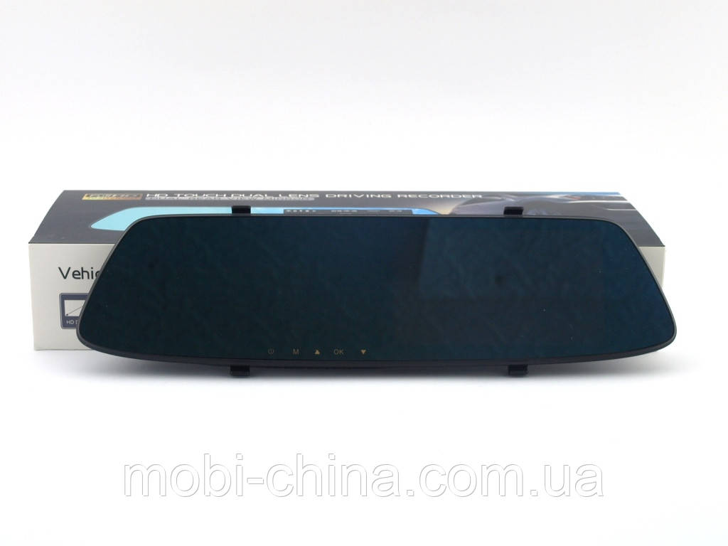 "DV116 Car DVR 5.0"" Touch Dual Lens Driver Recorder Full HD видеорегистратор зеркало 2 камеры"