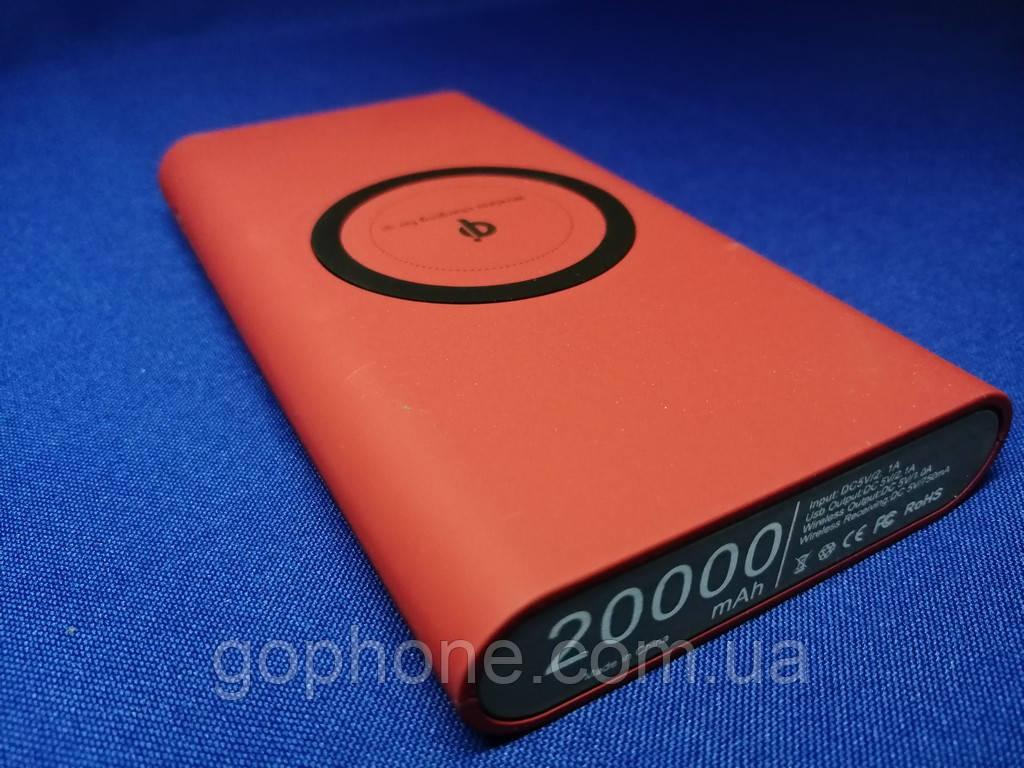 Универсальное зарядное устройство с беспроводной зарядкой Power Bank 20000 mAh Красный