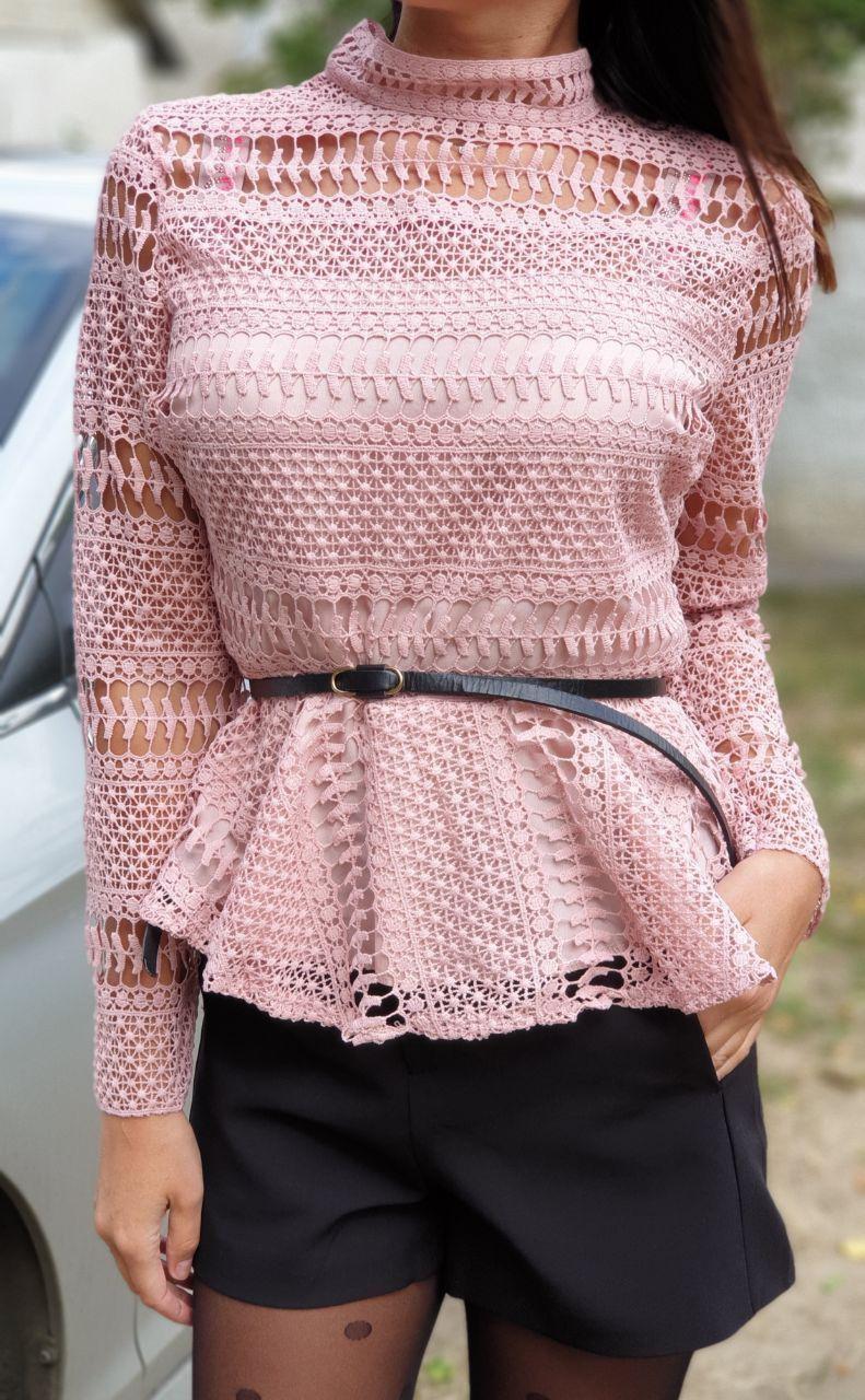 Блуза   набивное кружево 9149