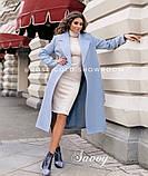 Пальто женское кашемировое, бежевое, красное, голубое, розовое, горчица, марсала, чёрное, розовое, фото 3