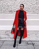 Пальто женское кашемировое, бежевое, красное, голубое, розовое, горчица, марсала, чёрное, розовое, фото 5