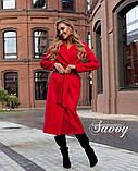 Пальто женское кашемировое, бежевое, красное, голубое, розовое, горчица, марсала, чёрное, розовое, фото 6