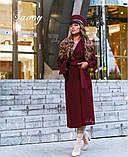 Пальто женское кашемировое, бежевое, красное, голубое, розовое, горчица, марсала, чёрное, розовое, фото 7