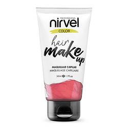 Nirvel. Make up. Прямой пигмент для волос. Макияж для волос. Коралловый 7465