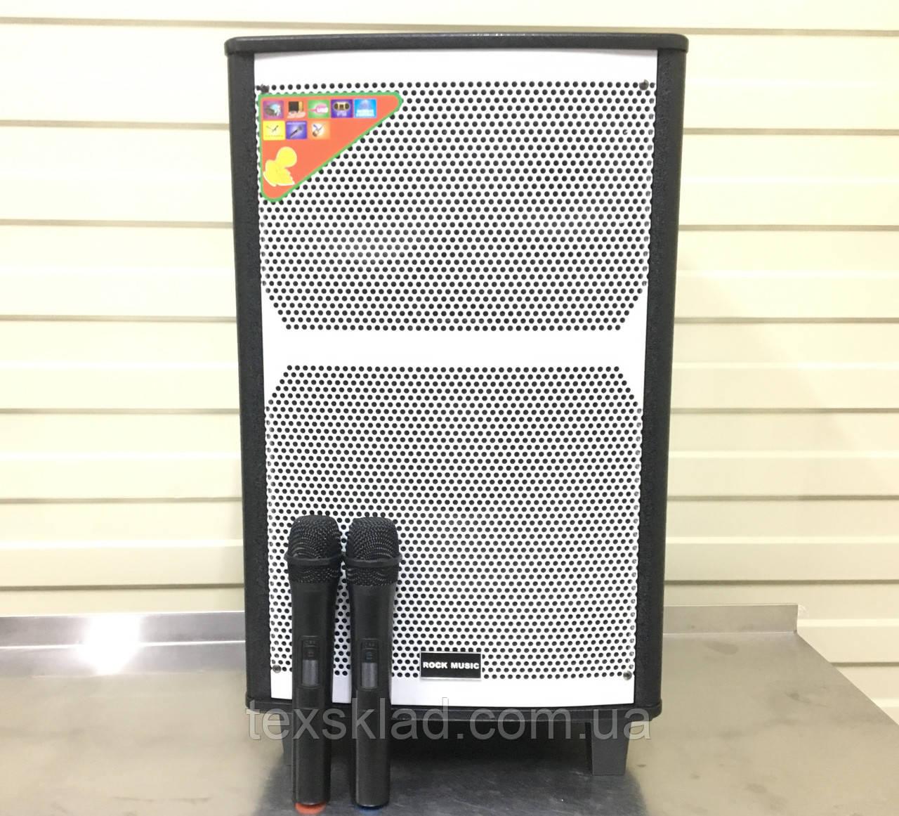 Акумуляторна колонка з мікрофонами RC-1202 200W (FM/USB/Bluetooth)