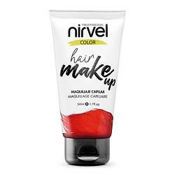 Nirvel. Make up. Прямий пігмент для волосся. Макіяж для волосся. Червоний 7460