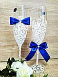 Свадебные бокалы Je t'aime (Bohemia). Цвет синий., фото 5