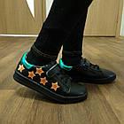 Черные кеды - туфли-кроссовки, р. 26, 28, 29, 31, 32, 33, 34, фото 7