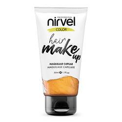 Nirvel. Make up. Прямой пигмент для волос. Макияж для волос. Золотой 7467