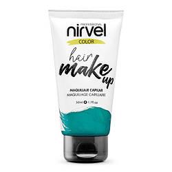 Nirvel. Make up. Прямий пігмент для волосся. Макіяж для волосся. Бірюзовий 7463