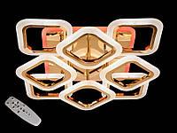 Светодиодная люстра с пультом-диммером и цветной подсветкой золото AS8060-4+4, фото 1