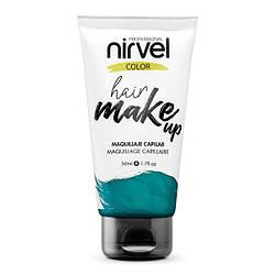 Nirvel. Make up. Прямий пігмент для волосся. Макіяж для волосся. Аквамарин 7464