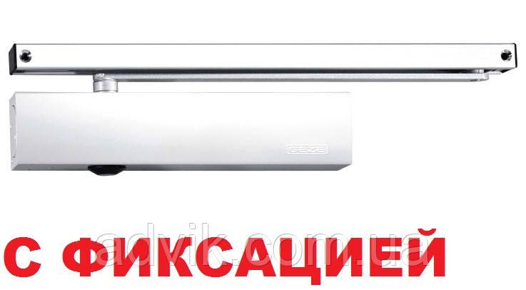 Доводчик Geze TS 5000 со скользящей тягой с фиксацией (белый)*