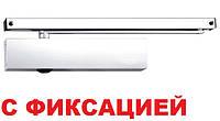 Доводчик Geze TS 5000 со скользящей тягой с фиксацией (белый)*, фото 1