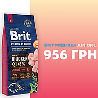Корм для собак Brit Premium by Nature  Junior  L  (Брит премиум юниор дог  L ) 15 кг