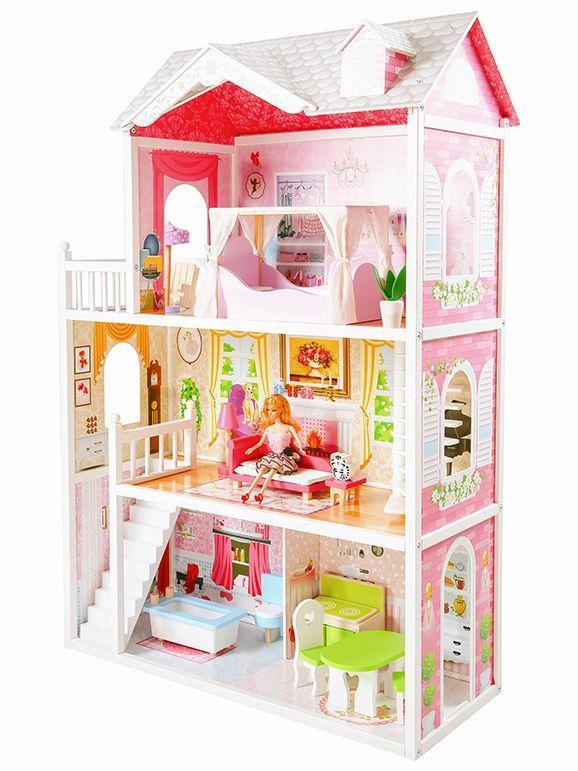 """Деревянный кукольный домик для Барби """"Малибу"""" EcoToys"""