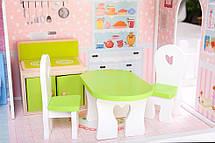 """Деревянный кукольный домик для Барби """"Малибу"""" EcoToys, фото 3"""