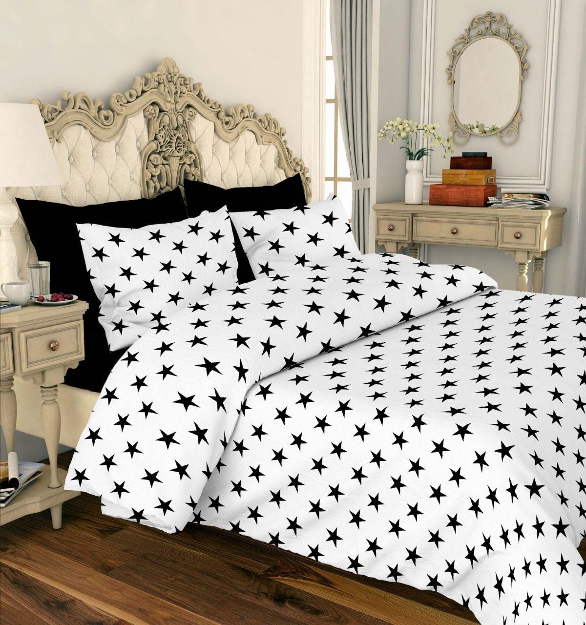 Комплект постельного белья от производителя Звезды на белом из Ранфорс