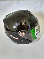 Мотошлем со встроенными солнцезащитными очками IBK №720, черный, размер М(57-58)